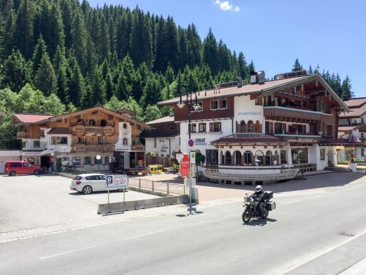 Hot day through Gerlos Village