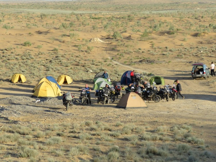 Camping in the Karakum Desert Turkmenistan
