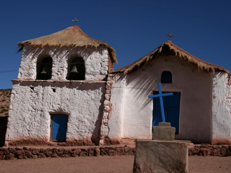 Adobe church in Northern Chile