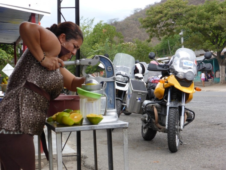 Freshly squeezed orange, roadside