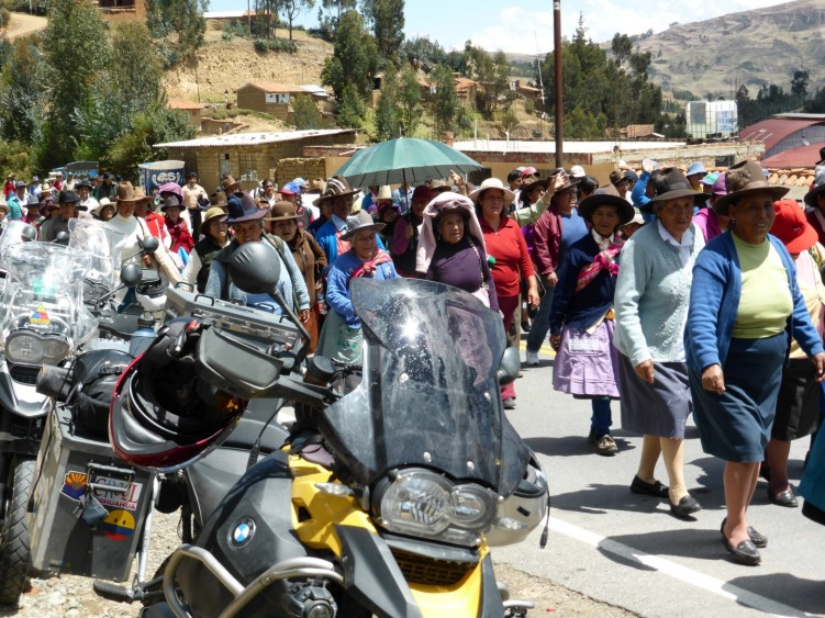 Stage 3 - Local doing a road protest, Peru