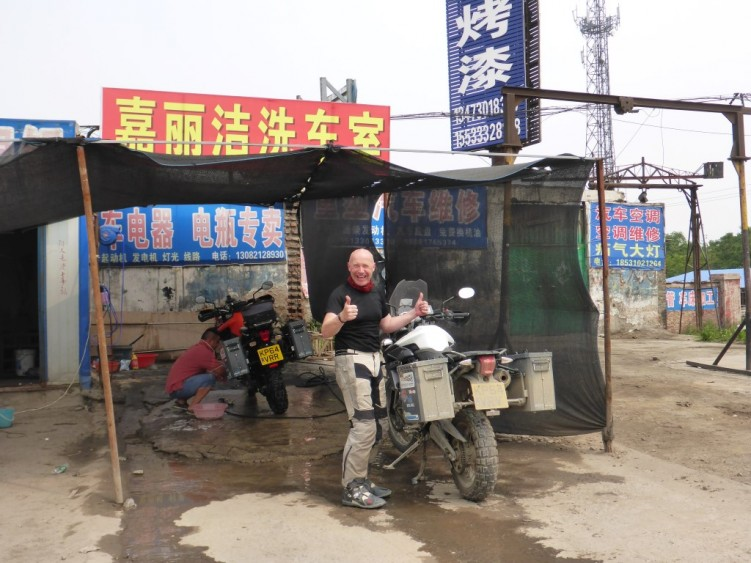 Chinese bike cleaning