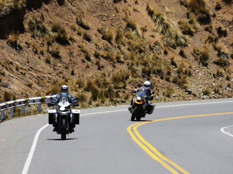 Empty Andean mountain roads
