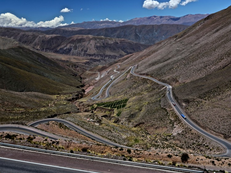 The descent to Purmamarca from the Chile-Argentina border