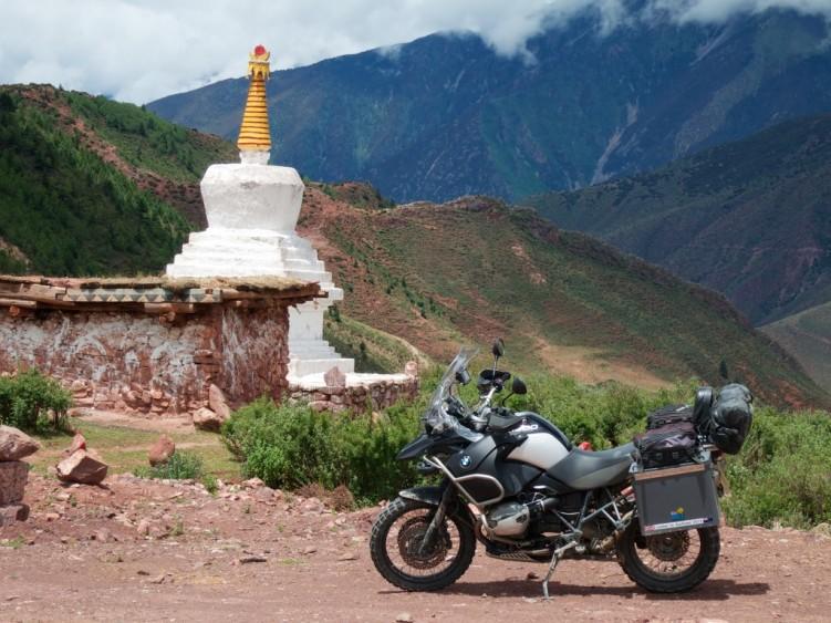 Buddhist stupa at the roadside