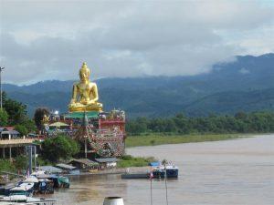 giant buddha on Mekong river (Large)
