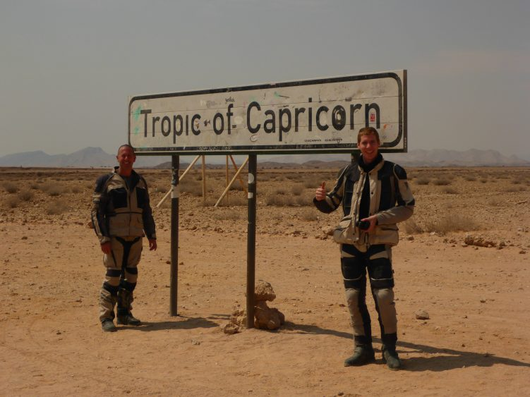 Pete and James at Tropic of Capricorn