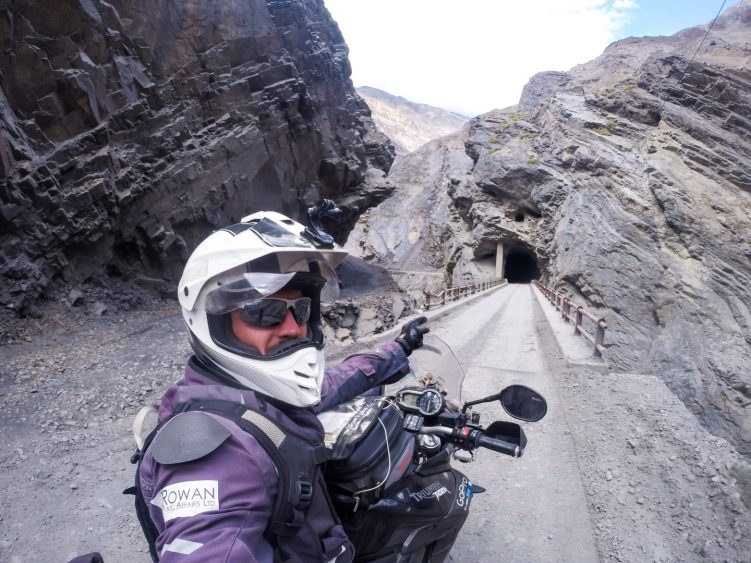 Stage 3 - One of the many single track tunnels in Canyon del Pato, Peru