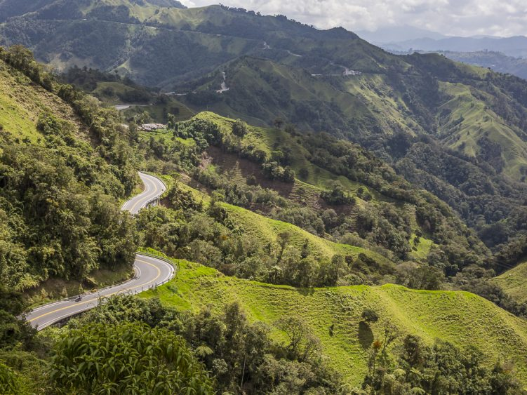 Stage 3 - Who wouldn't want to be riding this Colombian mountain road?!